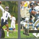 WARREN MOON 1994 Pinnacle #188 + 1995 Pinnacle #177.  VIKINGS