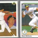 MARK McGWIRE 1990 Upper Deck #36 + 1990 UD #171.  A's