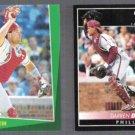 DARREN DAULTON 1993 Select #13 + 1992 Pinnacle #241.  PHILLIES