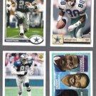 COWBOYS (4) Card Lot (1991 + 1992) UD W/ Emmitt + Irvin