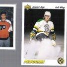 JAROMIR JAGR (2) 1991 UD #42 + 1990 UD Draft Top 10.  PENS