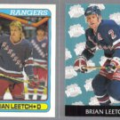BRIAN LEETCH 1990 Topps #221 + 1993 Parkhurst #467.  RANGERS