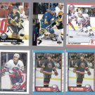 PAT LaFONTAINE (6) Card Lot (1989 - 1991 + 1994)  ISLES / SABRES