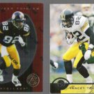 YANCEY THIGPEN 1997 Pinnacle Certified #70 + 1996 Leaf #60.  STEELERS