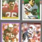 VAI SIKAHEMA (4) Card Lot (1987 - 1990) w/ RC + Score Supp.++.  CARDS