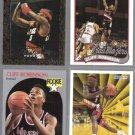 CLIFFORD ROBINSON (4) Card Lot w/ 1990 Hoops Rookie.  BLAZERS