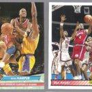 RON HARPER 1992 Ultra #83 + 1992 Upper Deck #258.  CLIPPERS