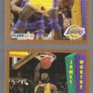 JAMES WORTHY 1992 Fleer #114 + Slam Dunk #274.  LAKERS