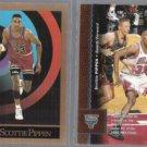 SCOTTIE PIPPEN 1990 Skybox #46 + 1996 UD #197.  BULLS
