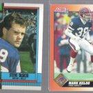 STEVE TASKER 1990 Topps #202 + MARK KELSO 1991 Score #431.  BILLS
