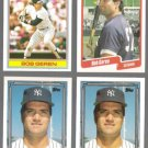 BOB GEREN (4) Card Lot (1990 + 1992) w/ Gold.  YANKEES