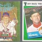 STAN MUSIAL Donurss Mini Puzzle + 1988 Topps TBTC.  CARDS