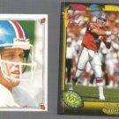 JOHN ELWAY 1987 Topps Sticker #174 + 1991 Wild Card #4.  BRONCOS