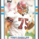 TONY CASILLAS 1989 Topps Traded #5T.  FALCONS