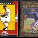NOLAN RYAN 2014 UD Goodwin Champs + 2011 Gypsy Queen Great Ones.
