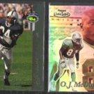 OJ McDUFFIE 1993 4-Sport McD's + 1999 Topps Gold Label.  DOLPHINS