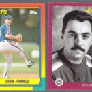 JOHN FRANCO 1990 Topps Traded + 1991 Studio.  METS