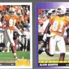 ALVIN HARPER 1991 UD Star Rookie #24 + 1991 Score RC #589.  COWBOYS