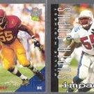 WILLIE McGINEST 1994 Classic Draft #66 + 1995 Impact #166.  PATRIOTS