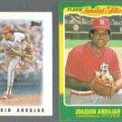 JUAQUIN ANDUJAR 1986 Topps mini #58 + Fleer LE #2 of 44.  CARDS