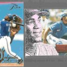 CARLOS DELGADO 1994 Flair #117 + 1996 Pinnacle #143.  JAYS