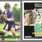 JIM MCMAHON 1993 Stadium Club + 1991 Pinnacle.  VIKINGS / EAGLES