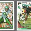 DENNIS BYRD 1991 Topps #472 + JEFF LAGEMAN 1994 Topps #415.  JETS