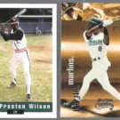 PRESTON WILSON 1992 Classic Draft #117 + 1999 Skybox Thunder #12. NYM / MARLINS