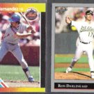 KEITH HERNANDEZ 1988 Donruss GS #8 + RON DARLING 1992 Leaf #447. METS / A's