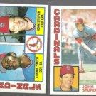 JOHN STUPER 1984 Topps #186 + #49. CARDS