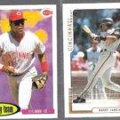 BARRY LARKIN 1995 Upper Deck CC #276 + 2000 UD MVP #158. REDS