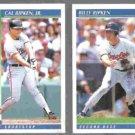 CAL RIPKEN Jr. #540 + Bill Ripken #97 - 1992 Score. ORIOLES