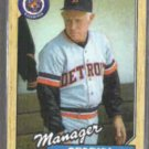 SPARKY ANDERSON 1987 Topps #218. TIGERS
