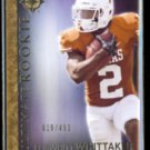 FOSWHITT WHITTAKER 2012 UD Ultimate Rookie #'d Insert 019/450.  TEXAS