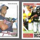 DEION SANDERS 1992 UD (BB) #247 + 1993 Score (FB) #425.  ATLANTA