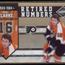 BOBBY CLARKE 2010 Panini Limited #'d Insert 167/199.  FLYERS  Retired Numbers