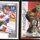 MARTIN BRODEUR 1992 UD Star Rookies #408 + 1999 UD HoloGrFX #33.  DEVILS