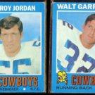 COWBOYS (2) 1971 Topps - LEE ROY JORDAN #31 + WALT GARRISON #8.