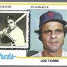 JOE TORRE 1978 Topps #109.  METS