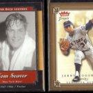 TOM SEAVER 2001 UD Legend + KOOSMAN 2004 Fleer Greats.  METS