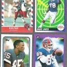 BILLS (4) Card Lot w/ Reed, Smith, Burkett, Tasker