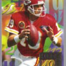 JOE MONTANA 1994 Flair Hot Numbers Insert #8 of 15.  CHIEFS