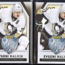 EVGENI MALKIN 2014 Panini Player of the Day (THICK STOCK) #5 + regular issue.