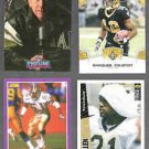 SAINTS (4) Card Lot w/ Manning, Colston, Mills, Allen.