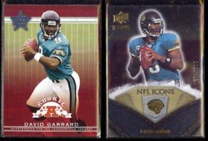 DAVID GARRARD 2002 Leaf R+S Rookie #133 + 2008 UD Icons #'d Ins. 203/799.  JAGS