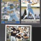 BO JACKSON (3) Card Lot w/ Collect-A-Book + 1991 FB + BB.  KC / OAK