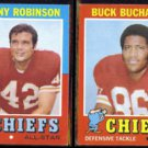 CHIEFS (2) 1971 Topps - JOHNNY ROBINSON #88 + BUCK BUCHANAN #13.