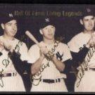 JOE D, MANTLE, Ted WILLIAMS 1993 Sports Stars USA (Gold Sigs) HOF Living Legends