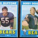 BEARS (2) 1971 Topps - DOUG BUFFONE #126 + BOBBY DOUGLASS #54.