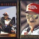 DALE EARNHARDT 1996 Pinnacle #59 + 1995 AP Race for 8 (Prototype) #DE-2.  NASCAR